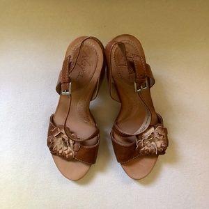 Naya Ariana  Leather Slingback Sandal